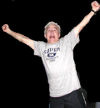 Buddy Hubert Celebrating Patriots Victory - 2002